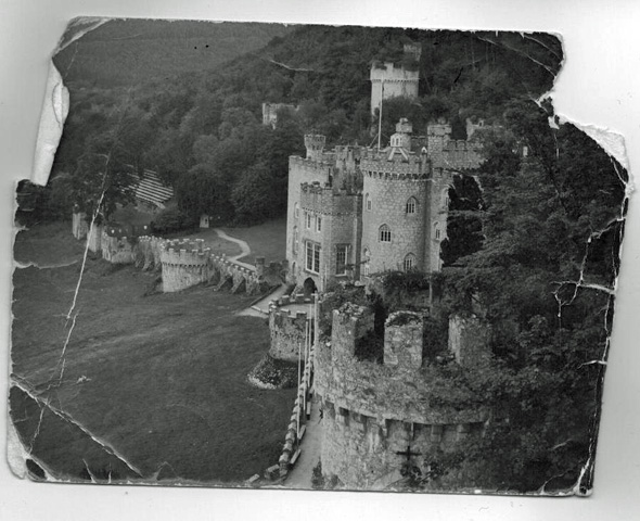 Gwrych Castle in the 1970s, Abergele. Copyright Karen Linley.