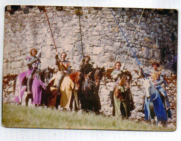 The Jousters of Gwrych Castle Abergele. Photo copyright Karen Linley.