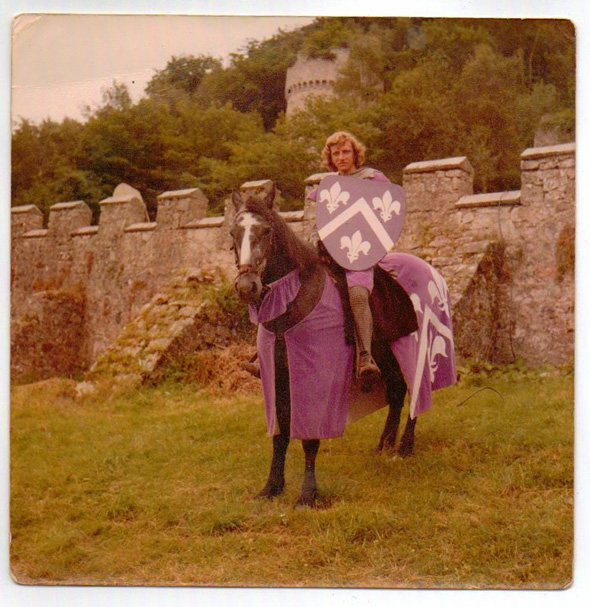 The Purple Knight of Abergele Gwrych Castle's Crossed Lances jousters. Photo copyright Karen Linley.