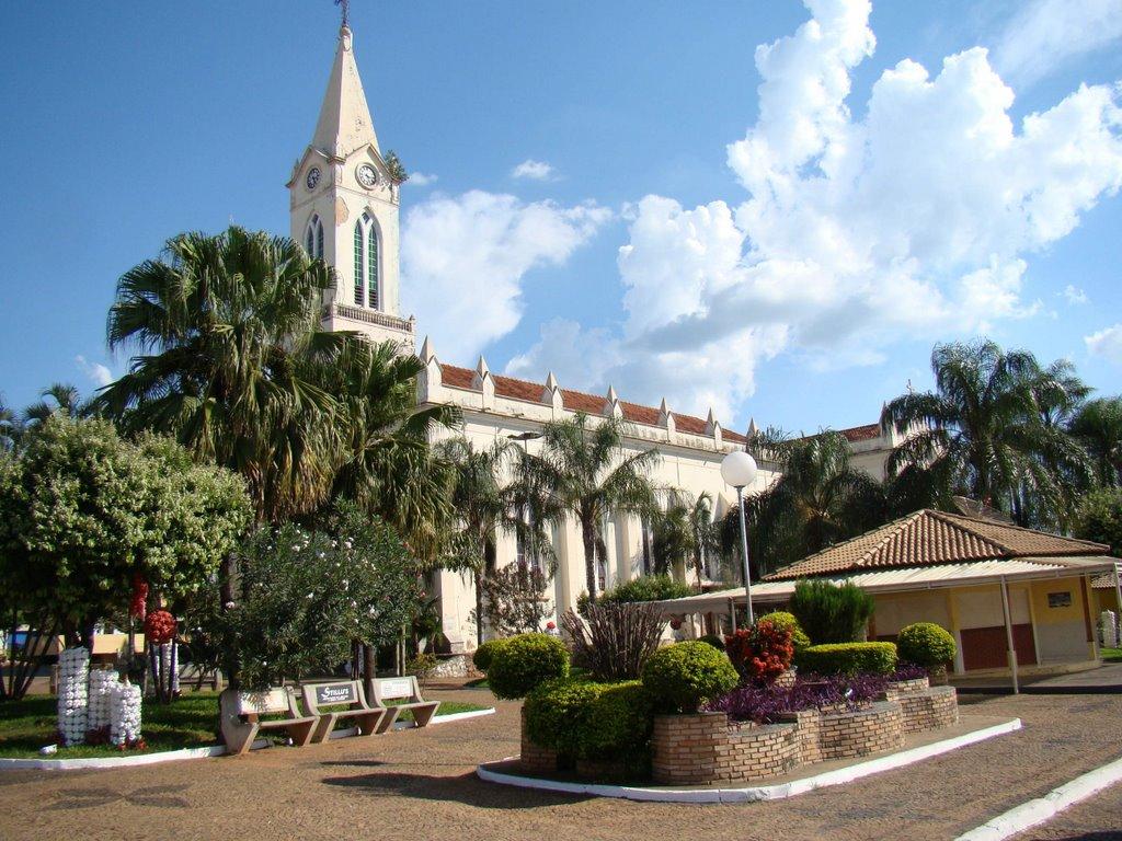 Igreja da cidade, representando abrir empresa em Ibirá