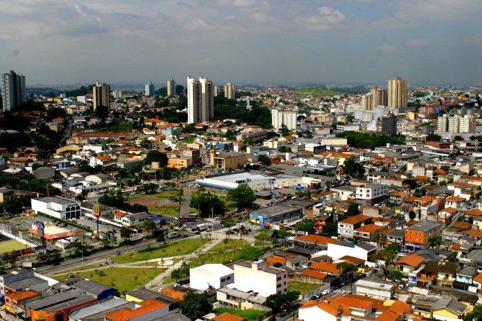 Foto aérea da cidade, representando abrir empresa em Diadema