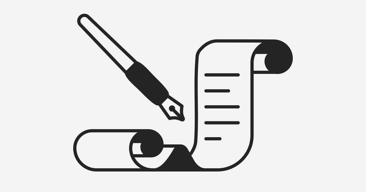 Desenho de um documento, representando alvará de funcionamento - A