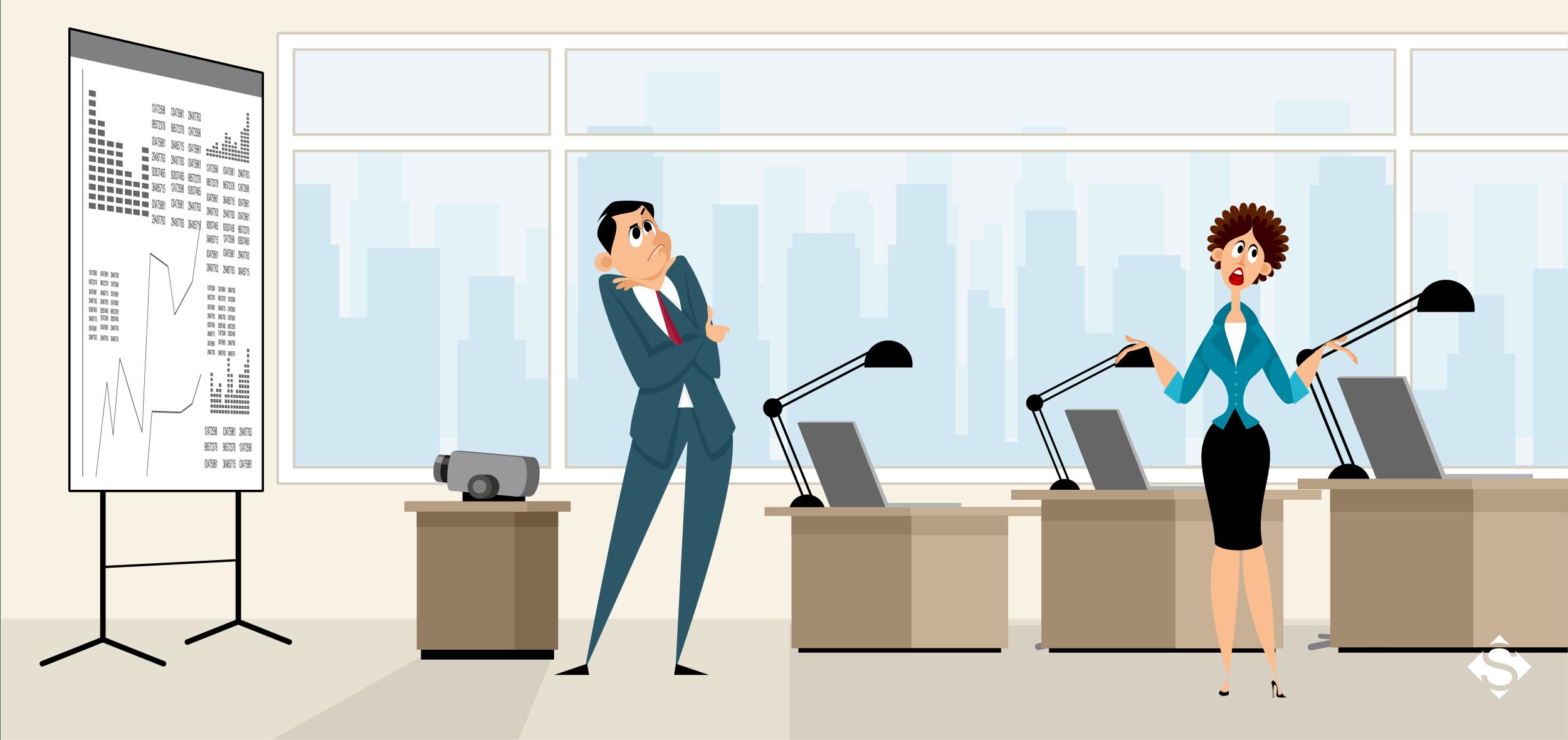 ilustração de pessoas em um escritório, representando todas as principais duvidas sobre o processo de abrir empresa