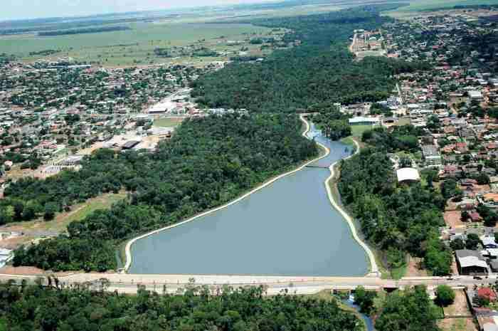 Foto do rio da cidade, representando como abrir empresa em Lucas do Rio Verde