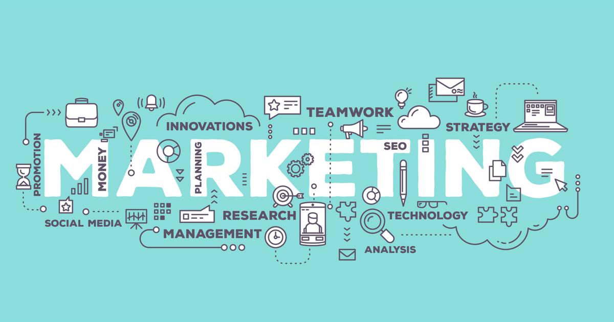 Ilustração representando as ferramentas de marketing