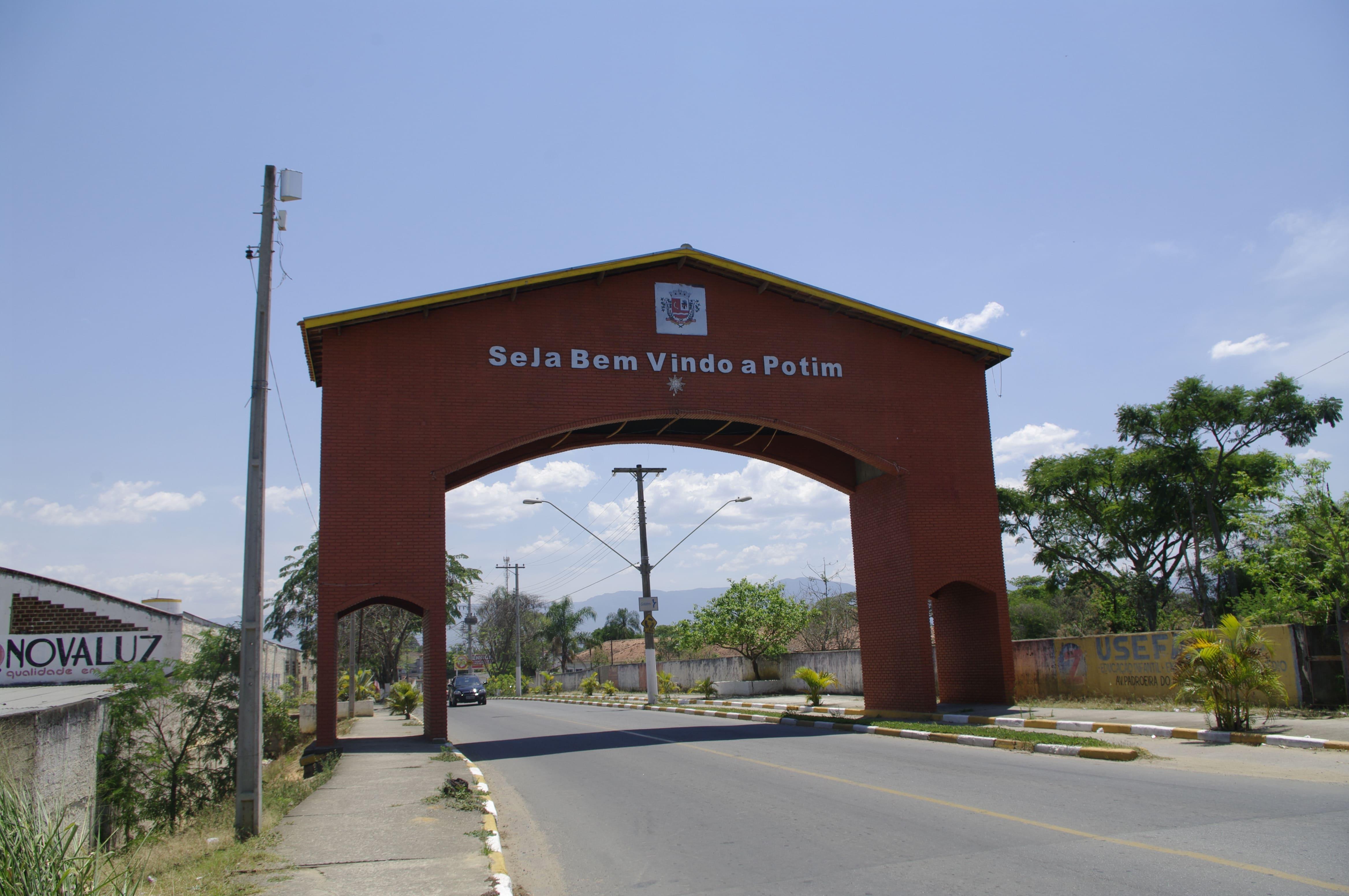 imagem do portal de entrada da cidade para quem procura um escritório de contabilidade em Potim