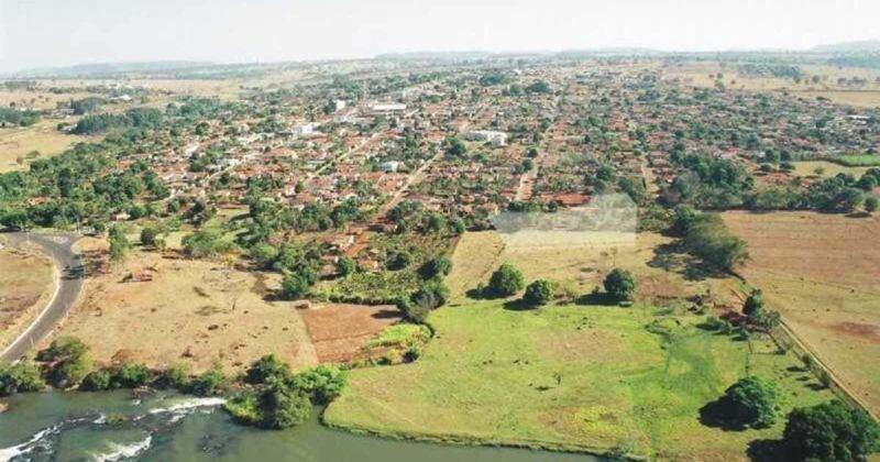 foto aérea da cidade, representando contabilidade em caçu