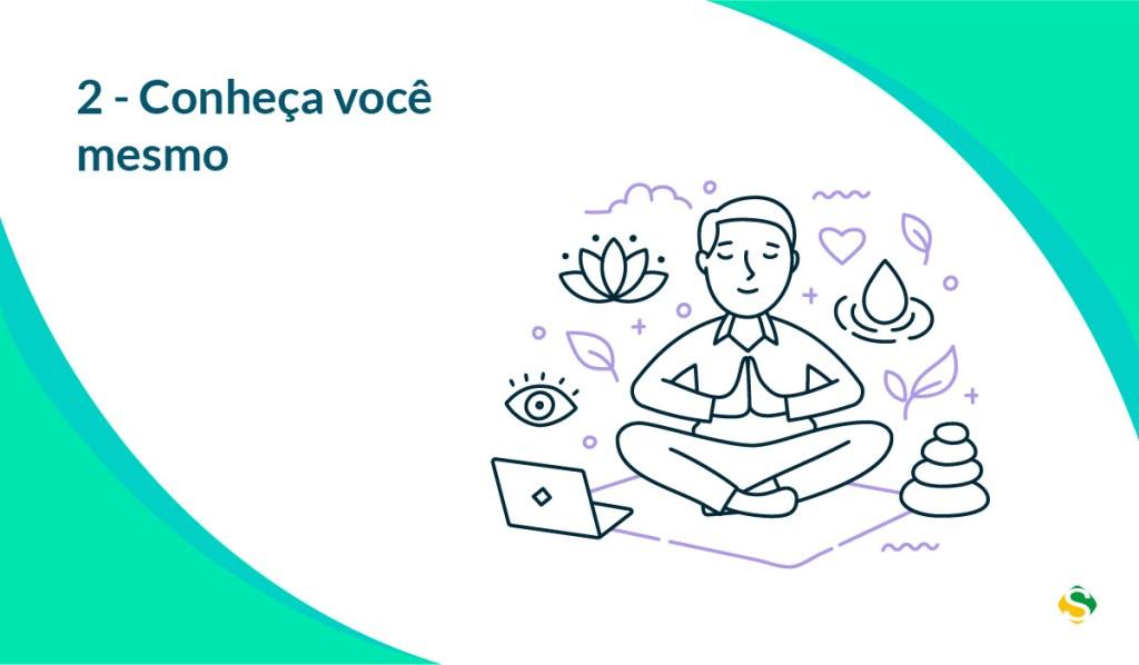 ilustração de um homem meditando