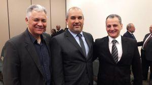 Marcio Gonçalves, Roberval Tavares de Souza e Luiz Roberto Gravina Pladevall na cerimônia de abertura da FENASAN 2016