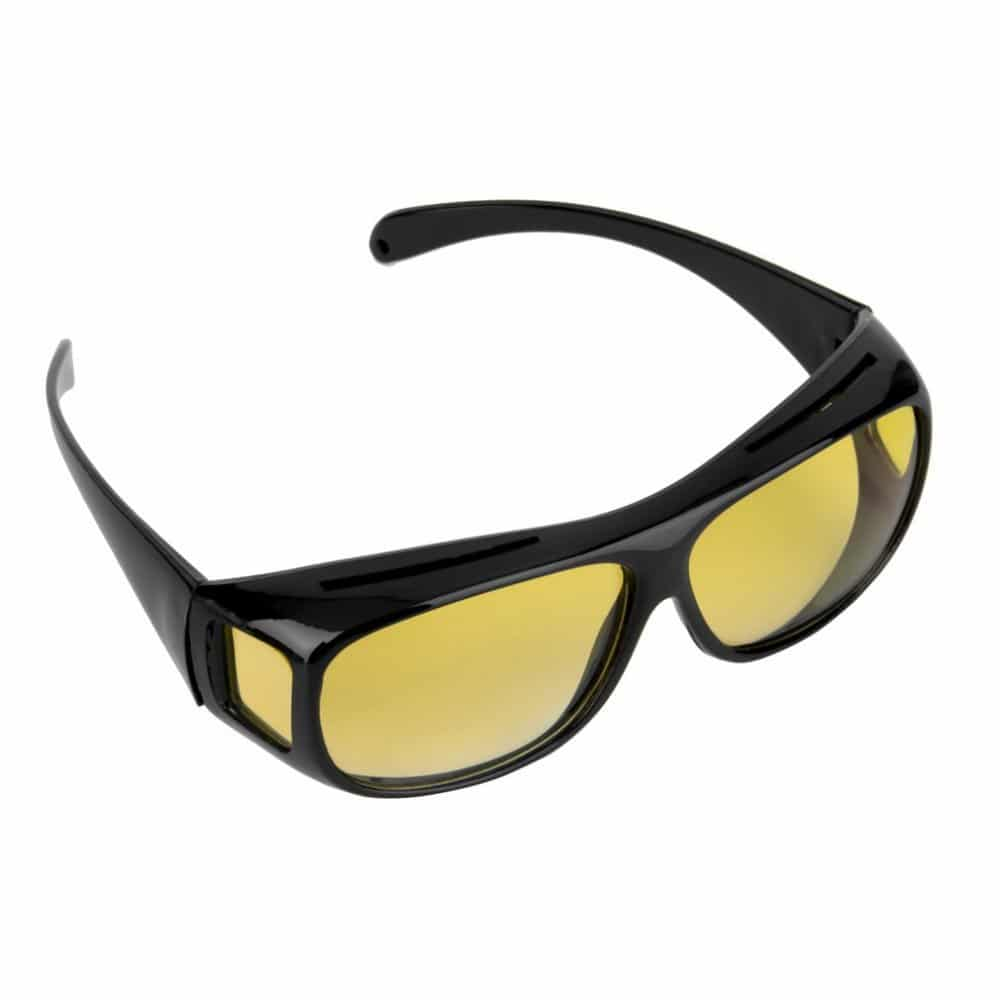 NEW Night Vision Driving Wrap Around Over Glasses Anti Glare Safety Sunglass UK