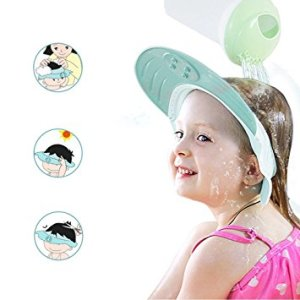ONEDONE Baby Shower Cap Adjustable Shampoo Protect Hats Funny Soft Silicone Shade Cap