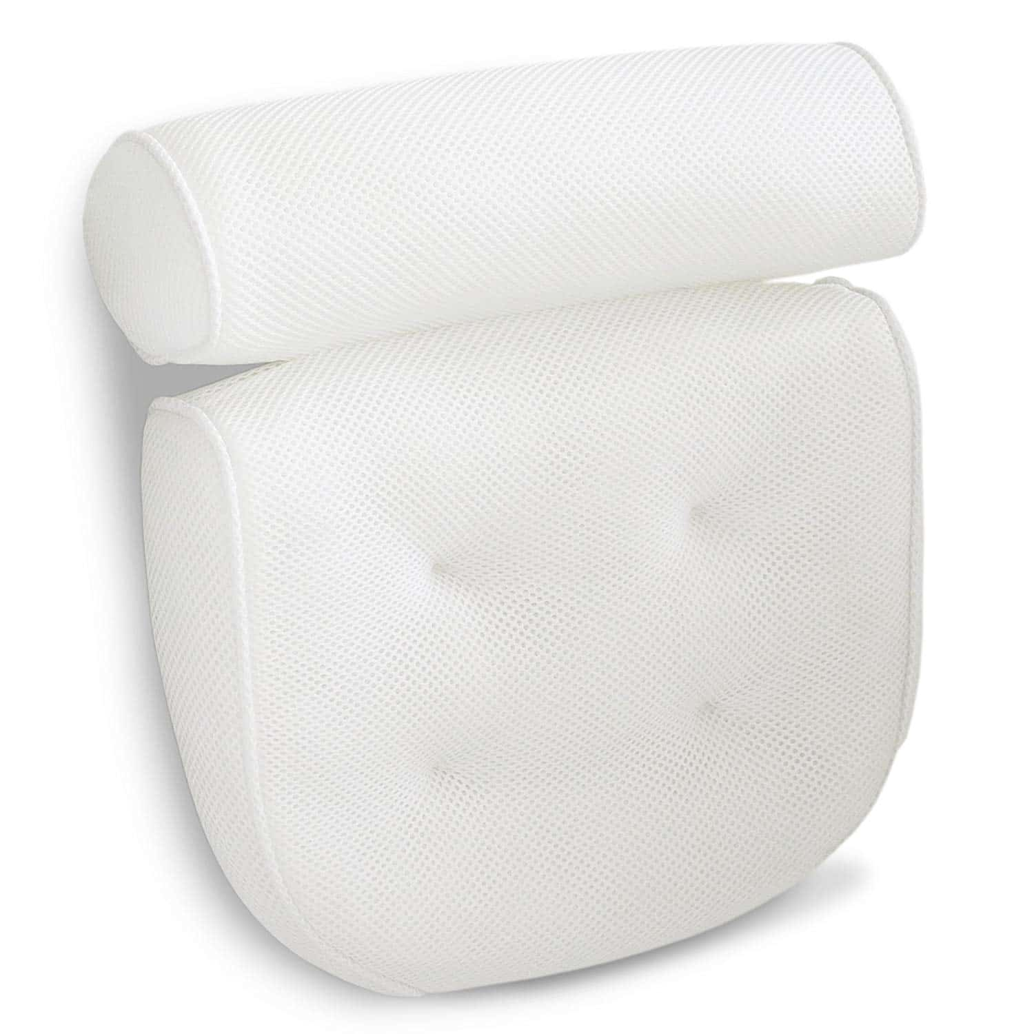 Viventive Luxury Spa Bath Pillow with Head, Neck, Shoulder and Back ...