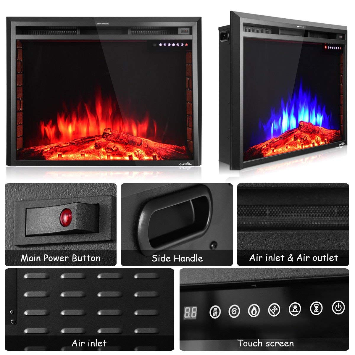 Top 5 Best Modern Electric Fireplaces Insert In 2018 Review A