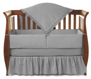 American Baby Company Heavenly Soft Minky Dot 4-Piece Crib Bedding Set