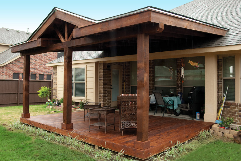 Patio Cover Company |Arbors | Pergolas | A Better Fence ... on Covered Back Deck Designs id=31069
