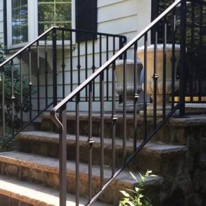 Handrail Installation Companies Custom Handrails Stairway Railings | Outside Stair Railing Installation | Rail | Simple | Staircase | Back Porch | Sunroom