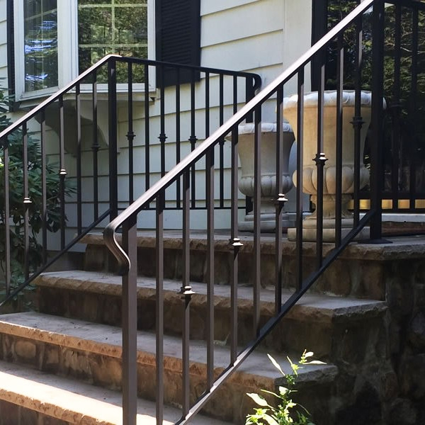 Mckinney Handrail Installation Company Handrails Stairway Railings | Wrought Iron And Wood Railing | Iron Baluster | Rustic | Split Foyer | Horizontal | Banister
