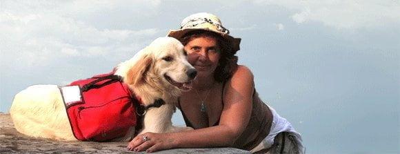 Rachel Friedman and a service dog she trained.