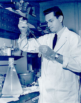 science experimenter in the lab