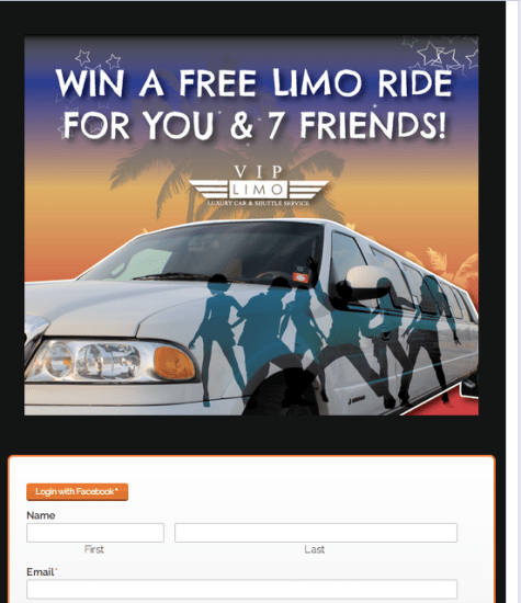 VIP Limo of Wilmington Facebook Contest