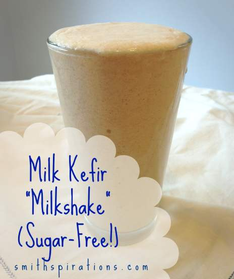 Try a milk kefir milkshake for a sugar-free candida diet smoothie or sweet treat