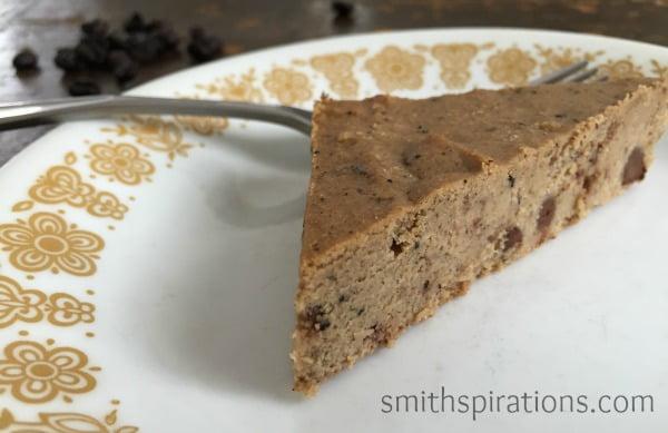 Slice of Mocha Chip Cake