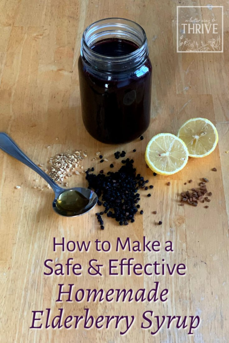Elderberry syrup can be a great remedy during cold and flu season, but you need a good recipe to end up with something safe, effective, and delicious. This homemade elderberry syrup is all three! You just need basic kitchen skills to make it, and since it's formulated by a trained herbalist, you can be confident it's solid recipe to follow. via @abttrway2thrive