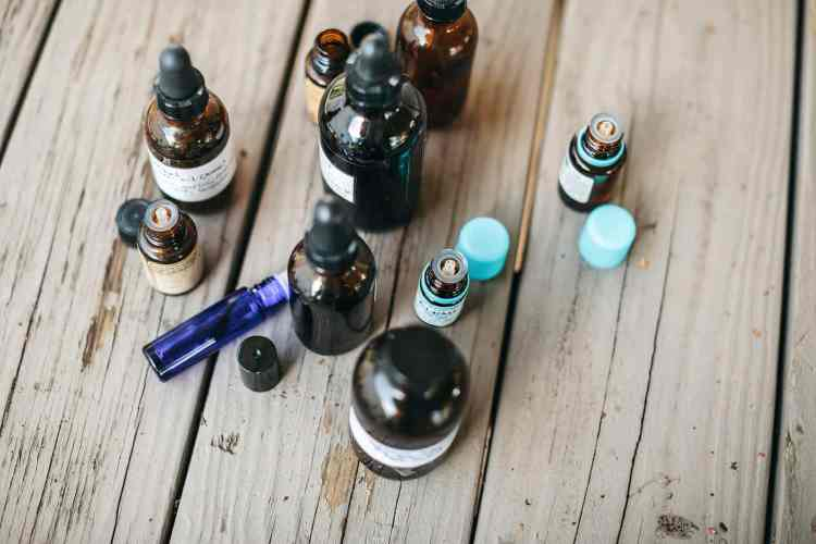 Essential Oils and Tincture Bottles