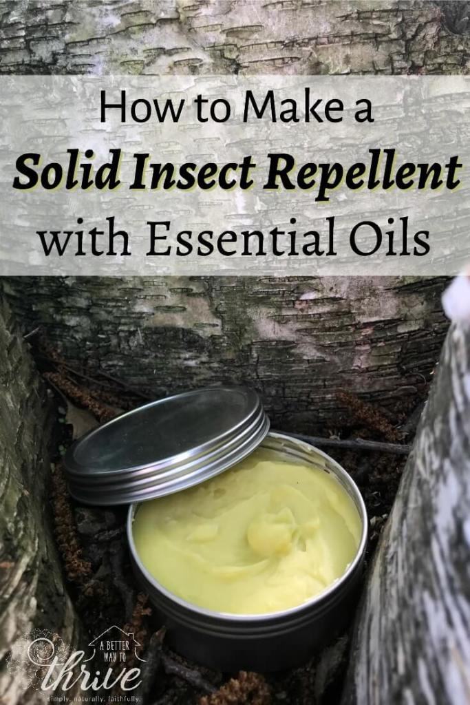 How to Make a Solid Insect Repellent with Essential Oils