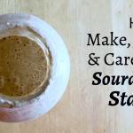 How to Make, Store, & Care For a Homemade Sourdough Starter
