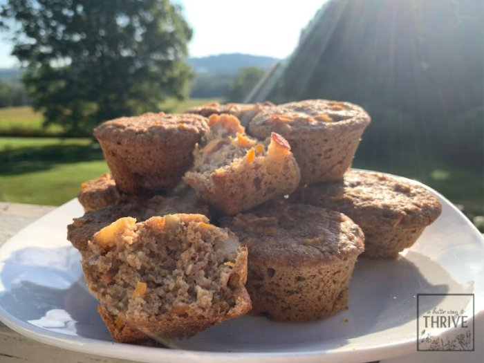 Morning Glory Sourdough Muffins