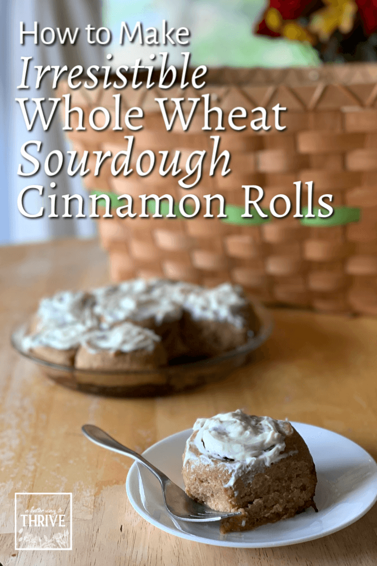 Fluffy, flavorful, and just sweet enough, these whole wheat sourdough cinnamon rolls will become your go-to recipe! They'll let you enjoy a sweet breakfast treat without the usual sugar crash and are the perfect thing to enjoy for special occasions. You won't even miss the white flour and excess sugar. Plus, there aren't any fancy techniques to learn. Try this recipe with clear instructions and photos to make amazing whole wheat sourdough cinnamon rolls! via @abttrway2thrive
