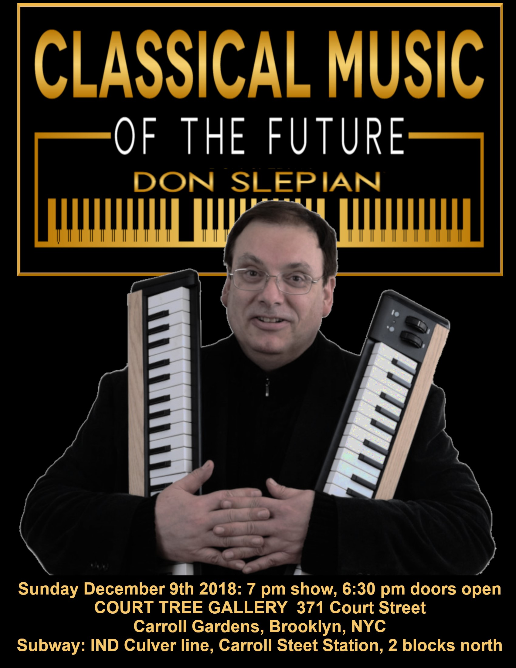 Don Slepian Performing in Brooklyn, Sunday, 12-9-18