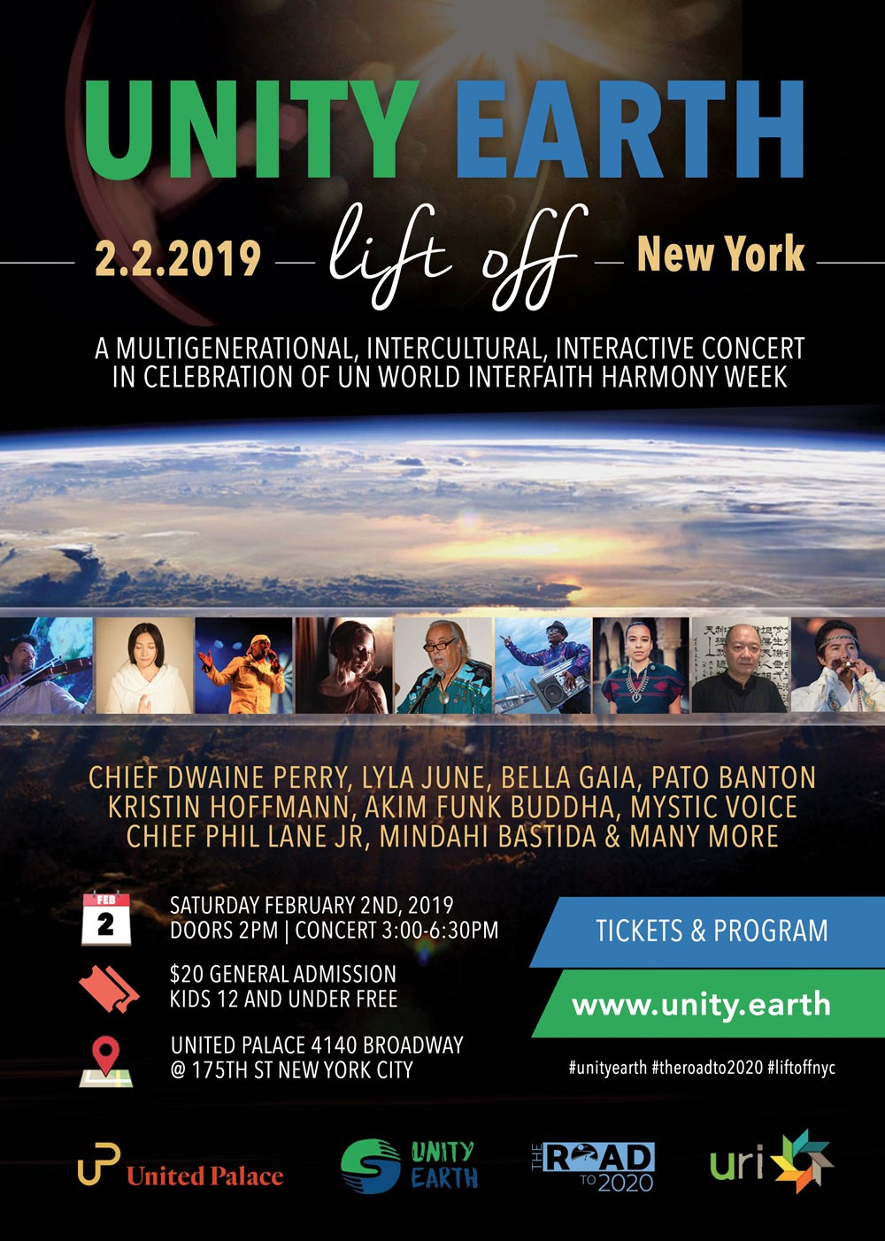 Unity Earth Lift Off at United Palace Theater 2.2.2019