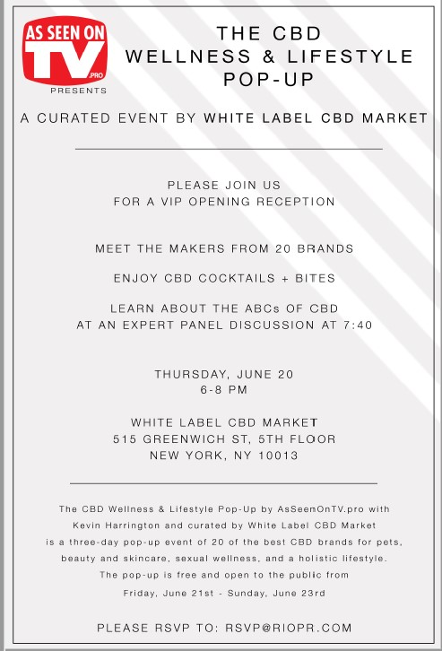 The CBD Wellness & Lifestyle Pop-Up  Event in NYC June 21-23