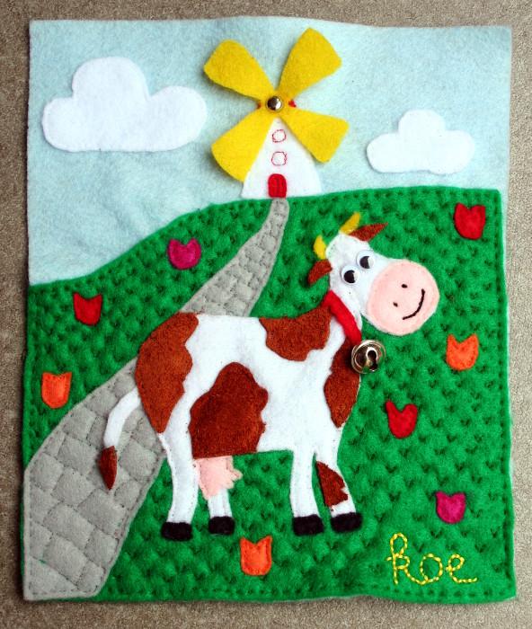 Quiet book - cow