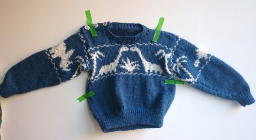 Our own Jurassic World – The dino sweater