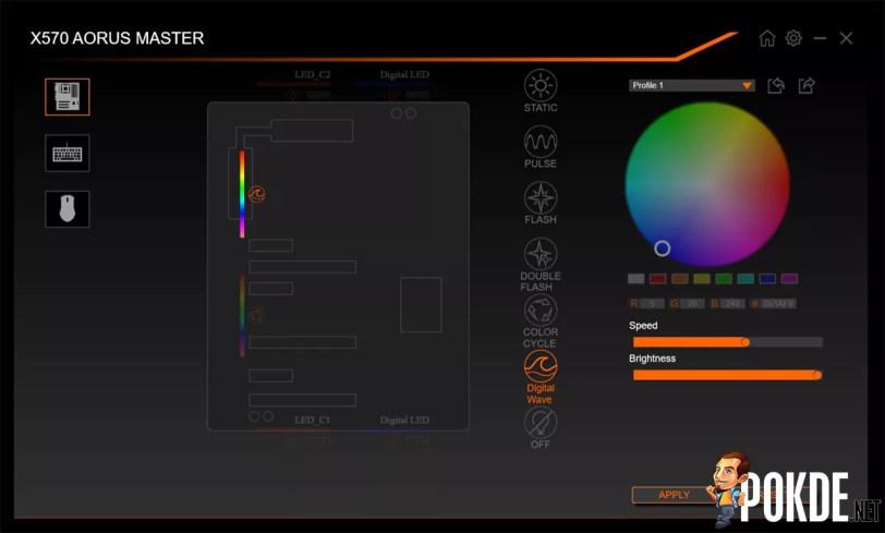 GIGABYTE AORUS X570 Master RGB Fusion