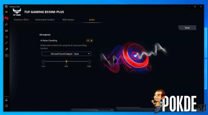 ASUS TUF Gaming B550M Plus AI Noise Cancellation Mic