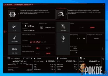 ASUS Dual Intellgent Processors 5: Home Screen
