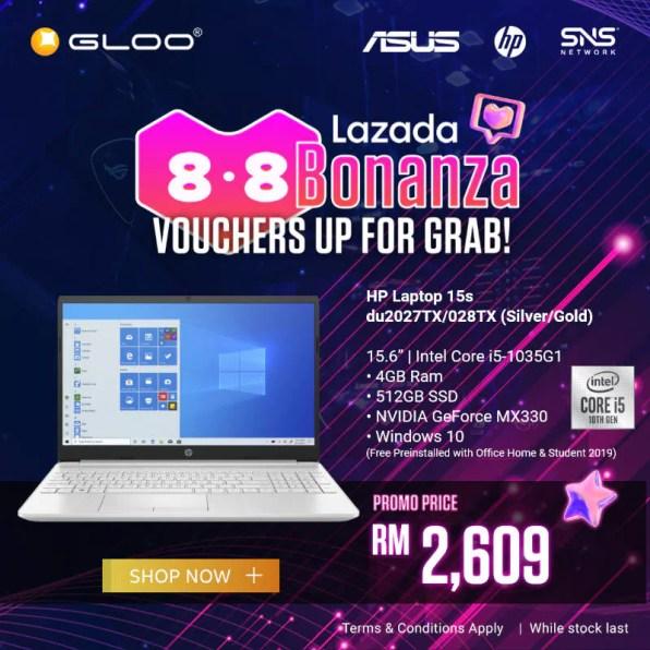 HP Laptop 15s GLOO promo Lazada Bonanza