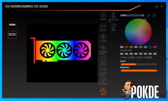 GIGABYTE GeForce RTX 3090 Gaming OC Review RGB Fusion