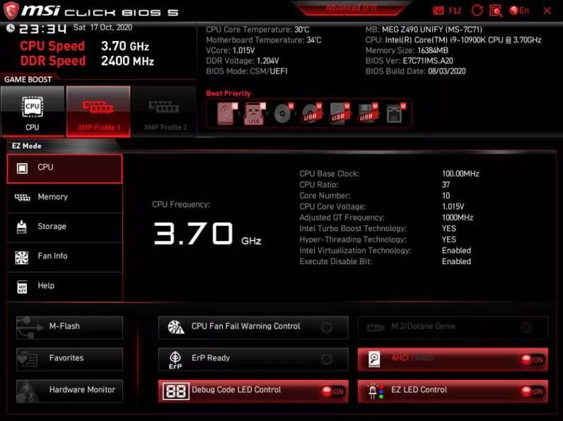MSI MEG Z490 UNIFY BIOS_2