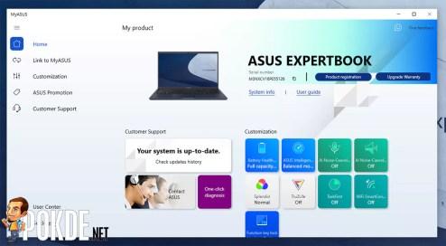 ASUS ExpertBook B1 review MyASUS