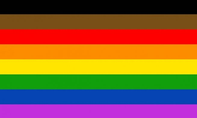 Philadelphia People Of Color Inclusive Flag (Povo da Filadélfia com Bandeira Inclusiva de Cores)