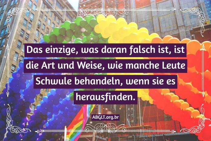 Das einzige, was daran falsch ist, ist die Art und Weise, wie manche Leute Schwule behandeln, wenn sie es herausfinden.
