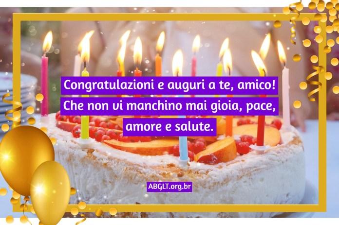Messaggio di compleanno ad un amico