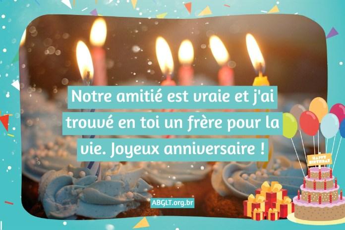 Message d'anniversaire à un ami