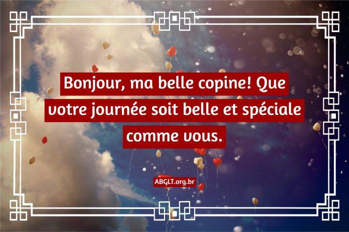 Bonjour mon amour (phrases et images)