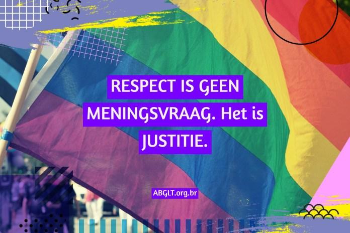 RESPECT IS GEEN MENINGSVRAAG. Het is JUSTITIE.
